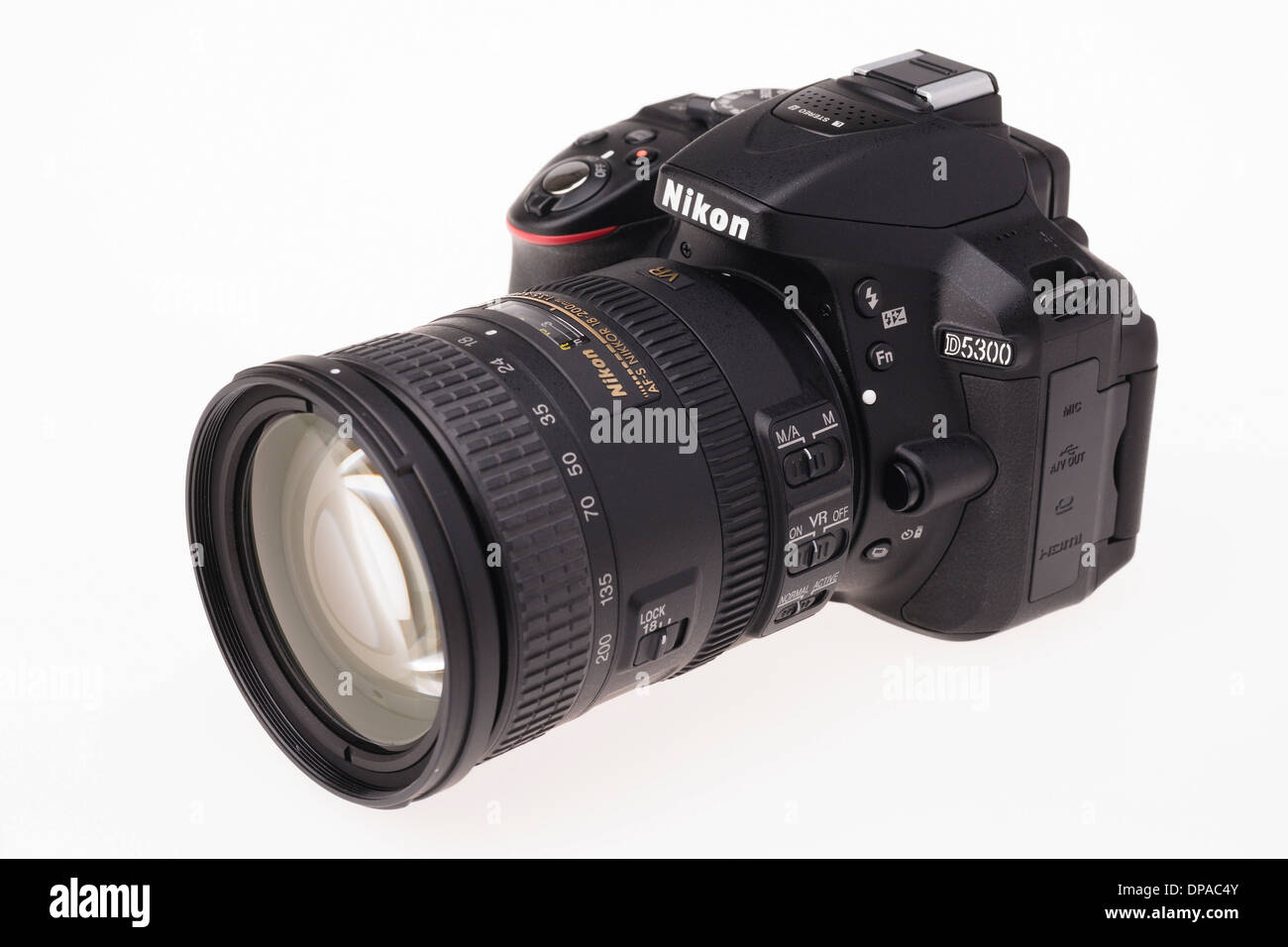 Digital photography equipment - Nikon D5300 - Stock Image