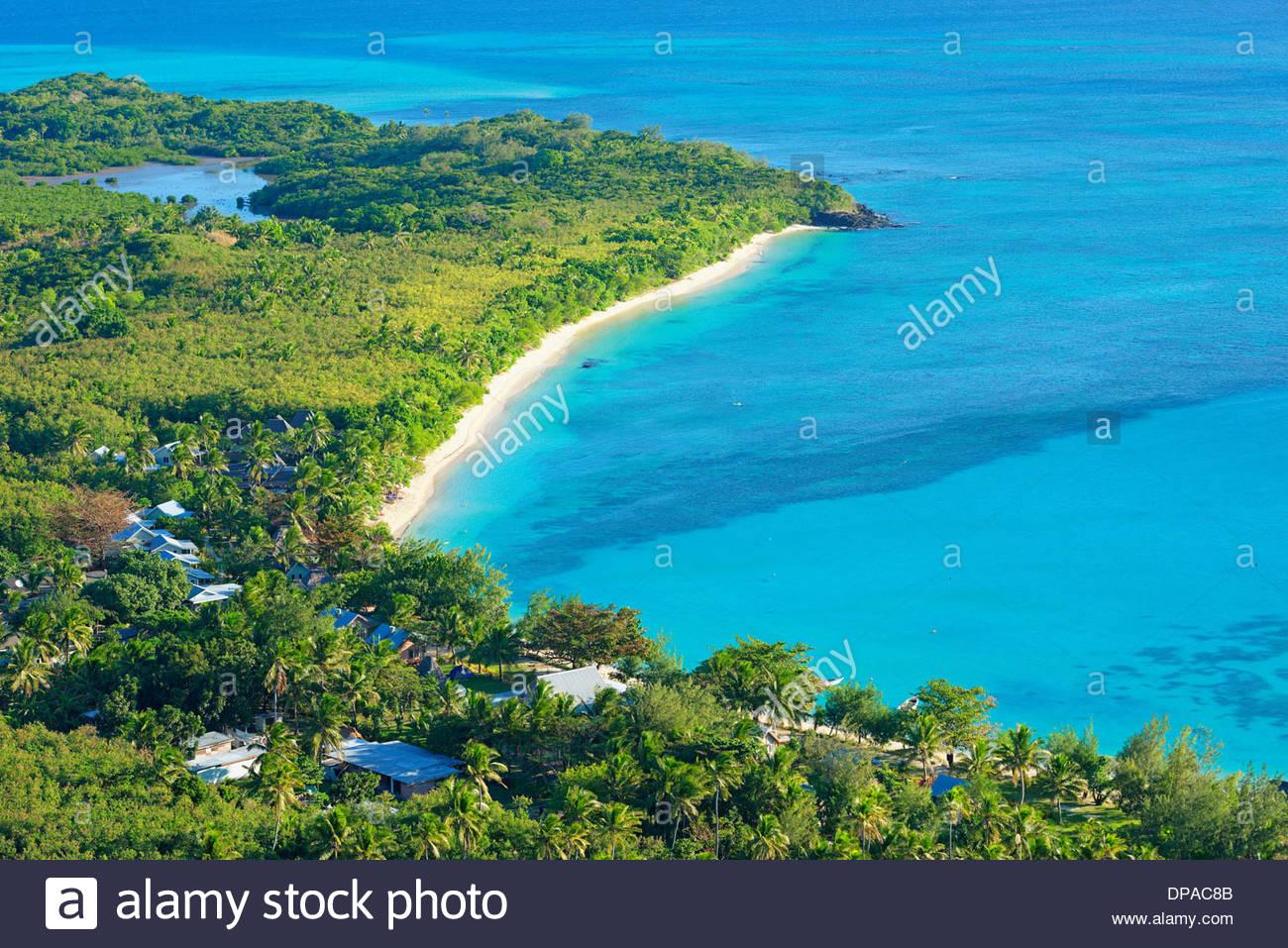 Blue Lagoon, Nacula island, Yasawa island group, Fiji, South Pacific - Stock Image