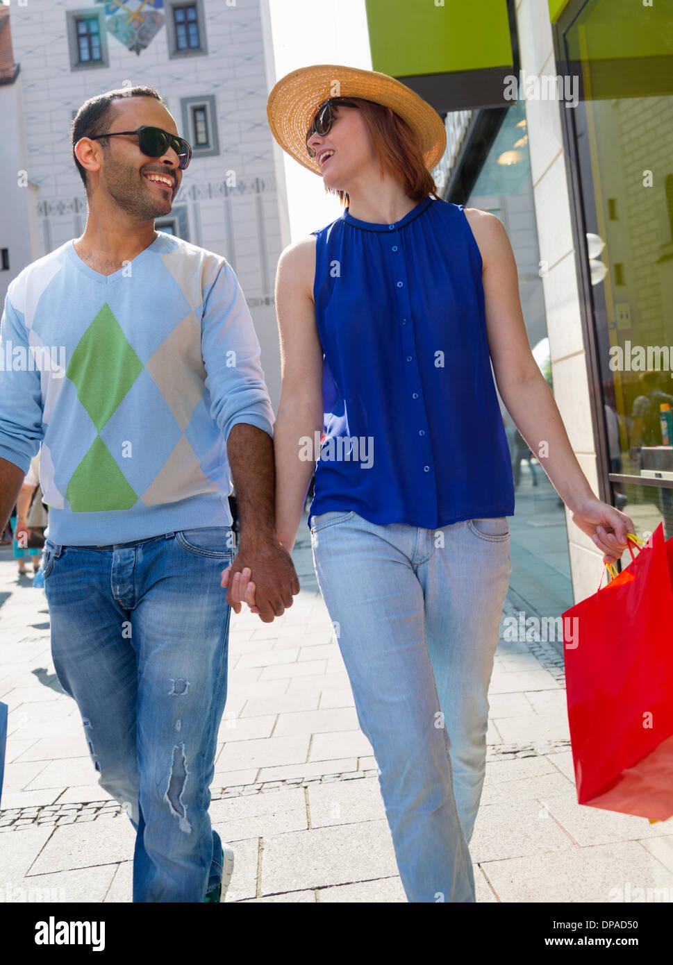 Tourists in Munich Marienplatz, Munich, Germany Stock Photo