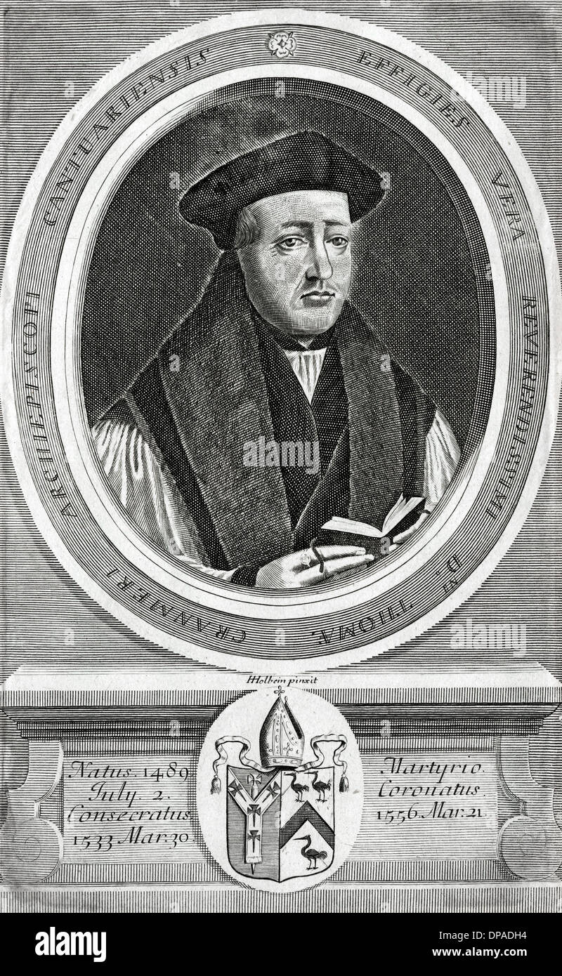 THOS CRANMER/HOLBEIN - Stock Image