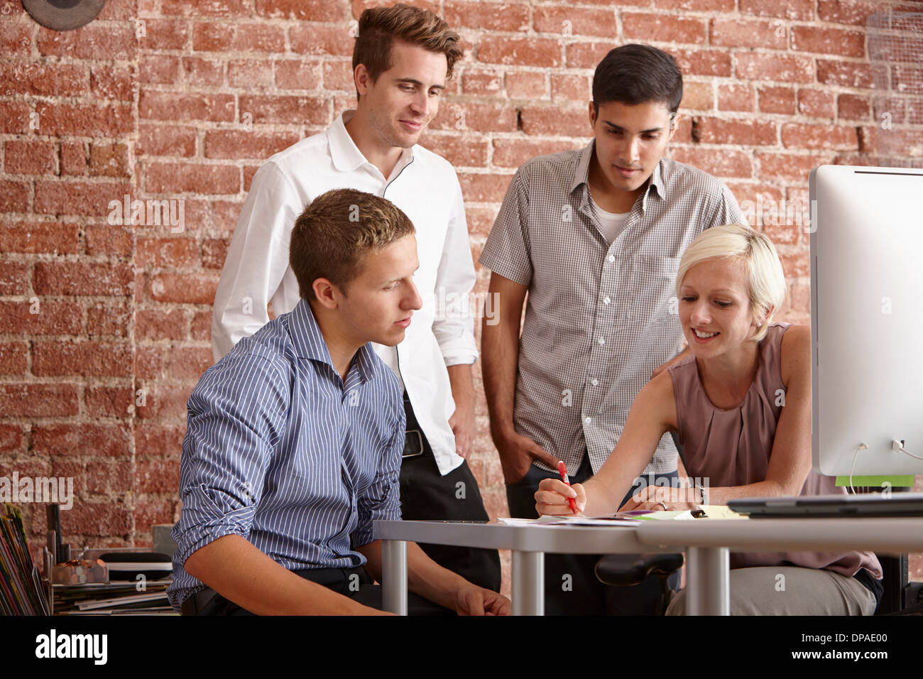 Colleagues in meeting - Stock Image