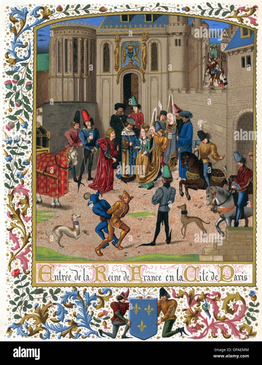 ISABEAU DE BAVIERE 1389 - Stock Image