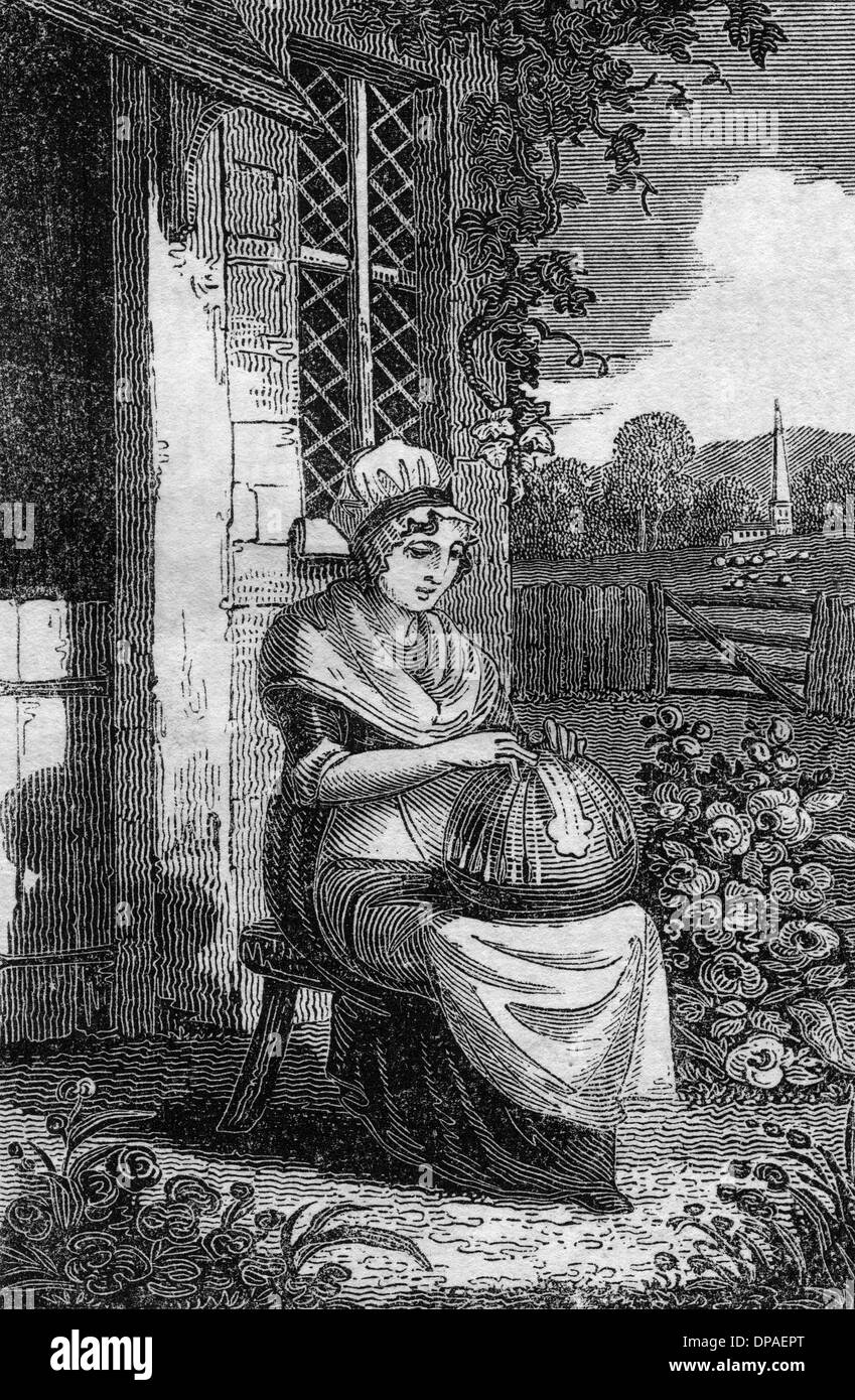 LACEMAKER 1827 - Stock Image