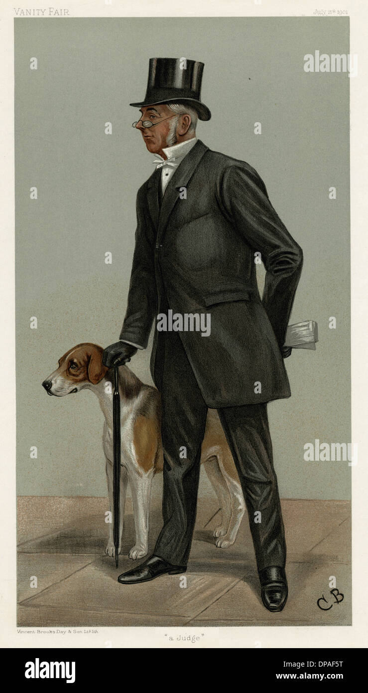 CECIL LEGARD AND DOG - Stock Image