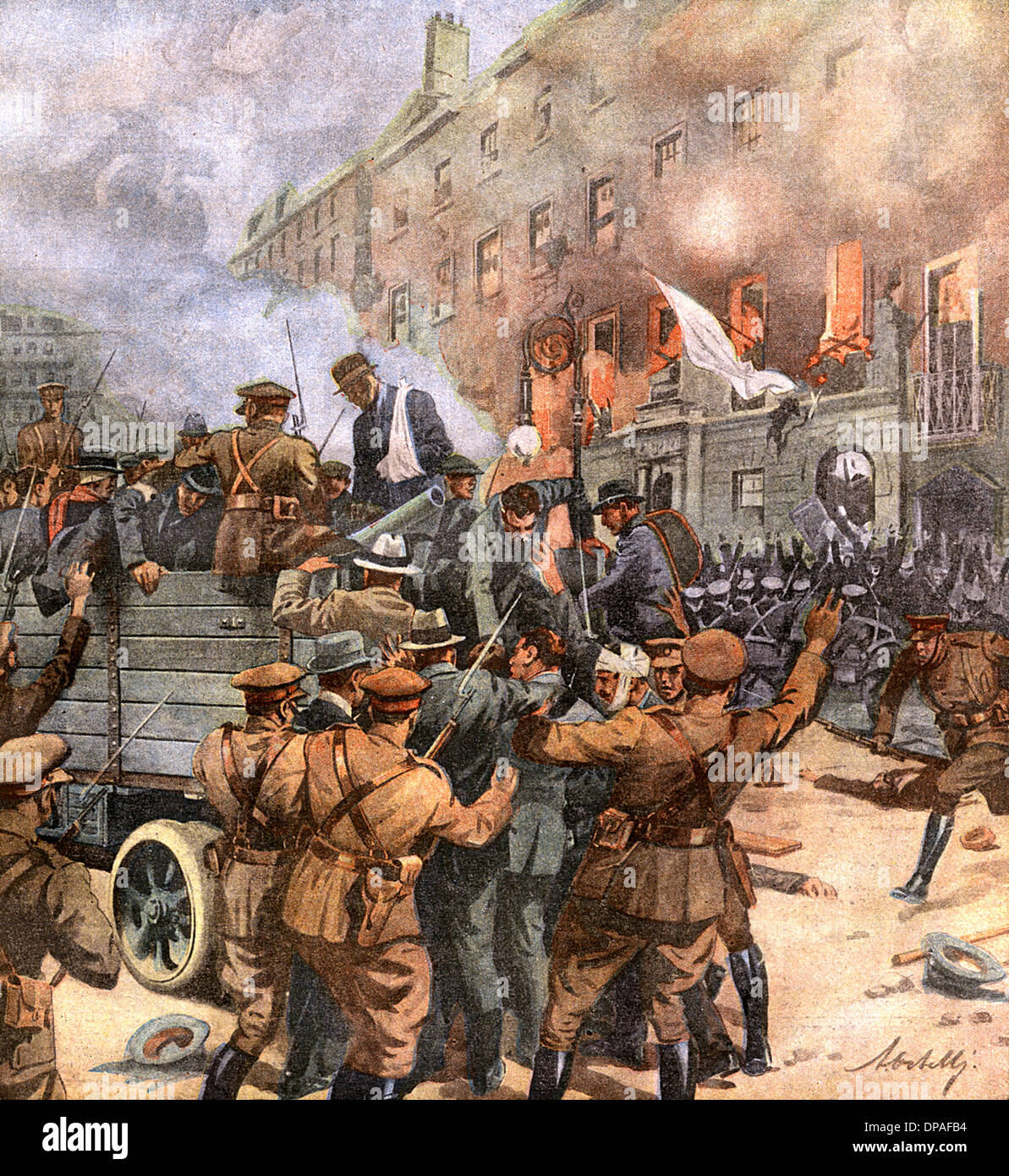 CIVIL WAR DUBLIN 1922 - Stock Image
