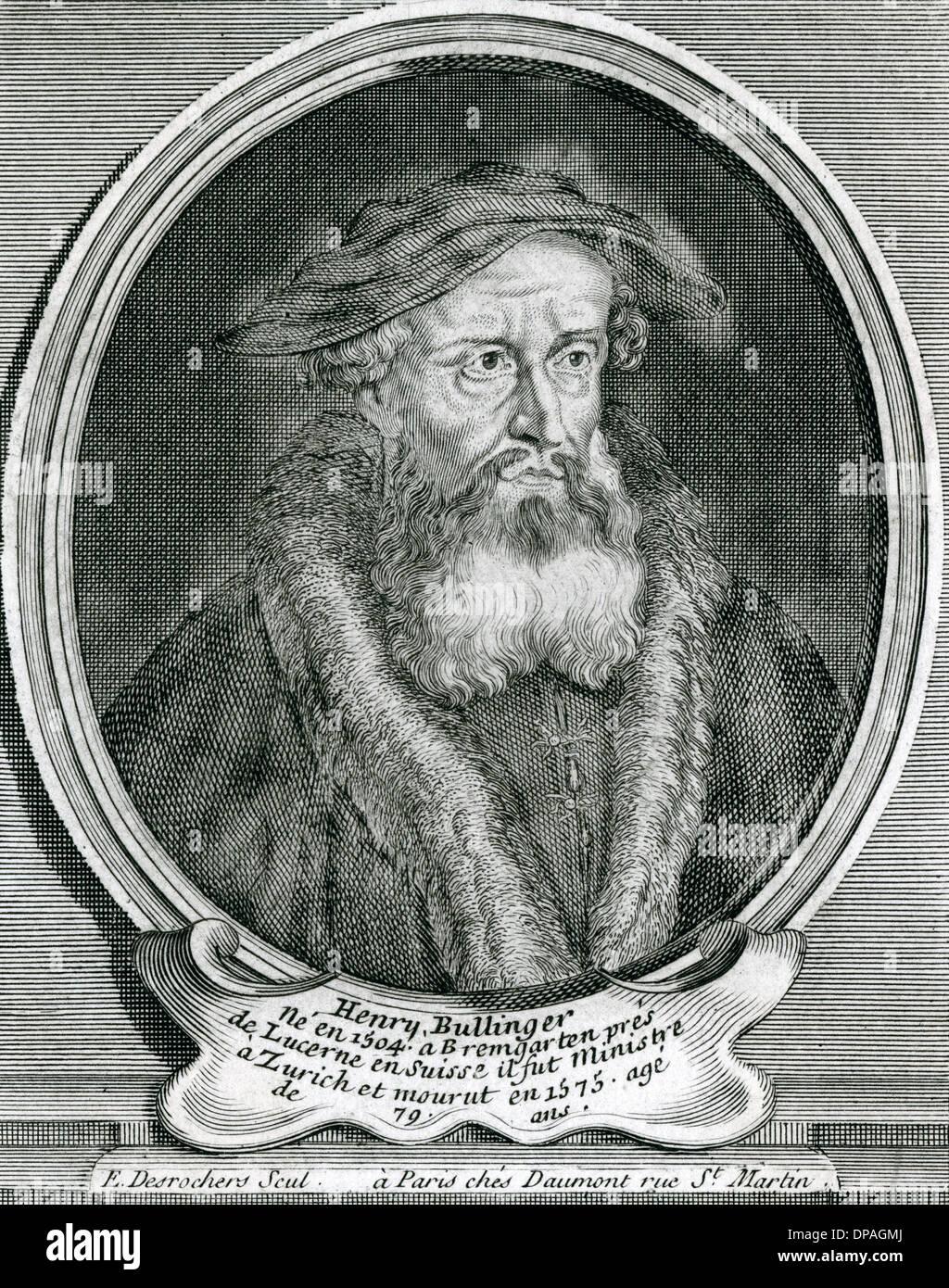 HEINRICH BULLINGER - Stock Image