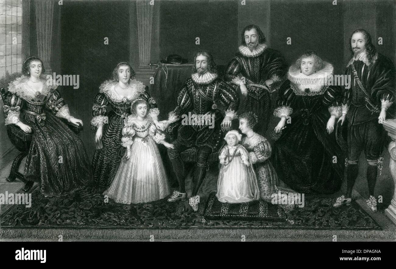 BUCKINGHAM EN FAMILLE - Stock Image