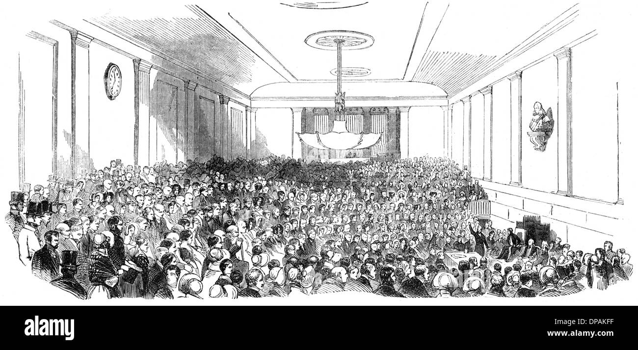 GREENWICH LIT INST 1843 - Stock Image