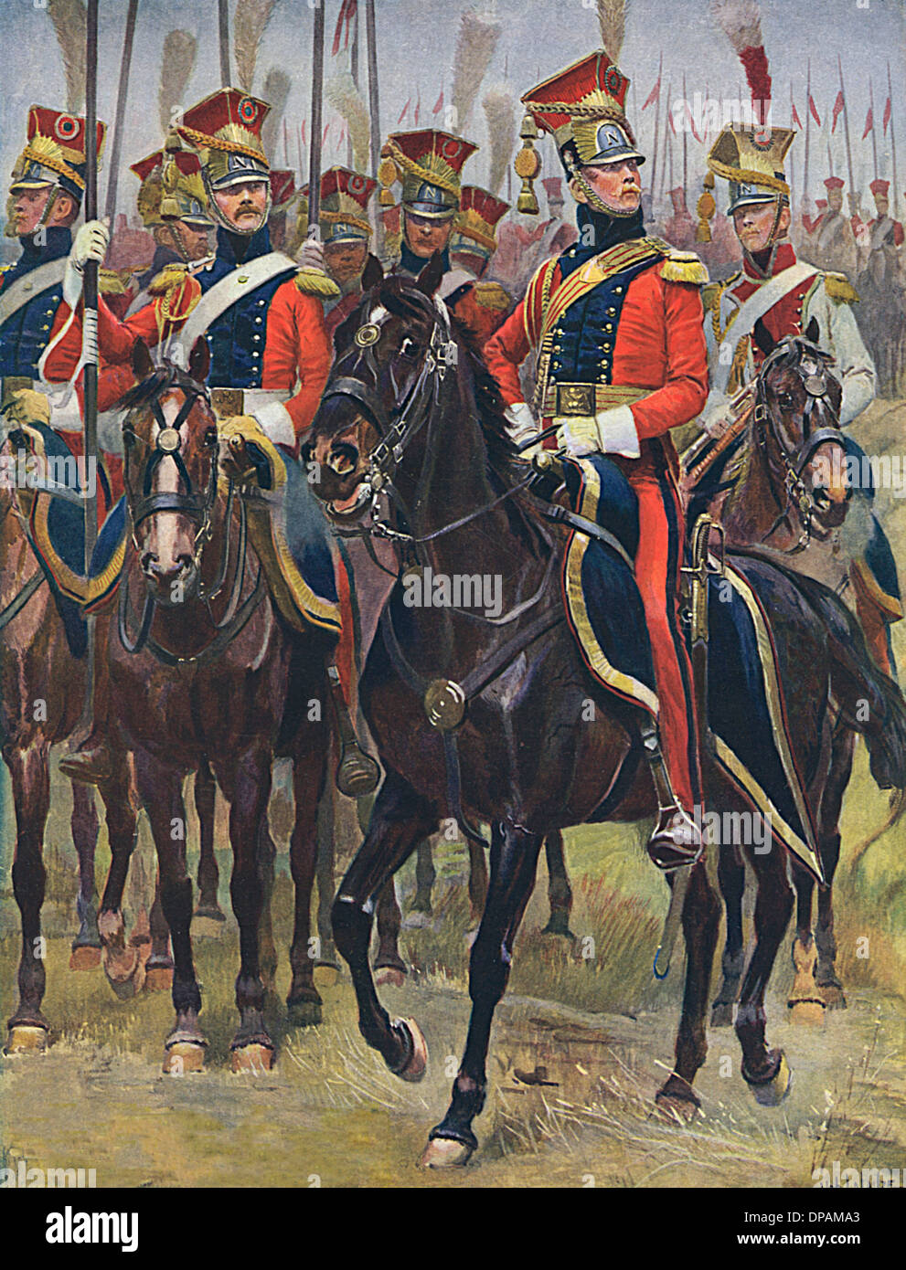 FRENCH CAVALRY 1805 - Stock Image