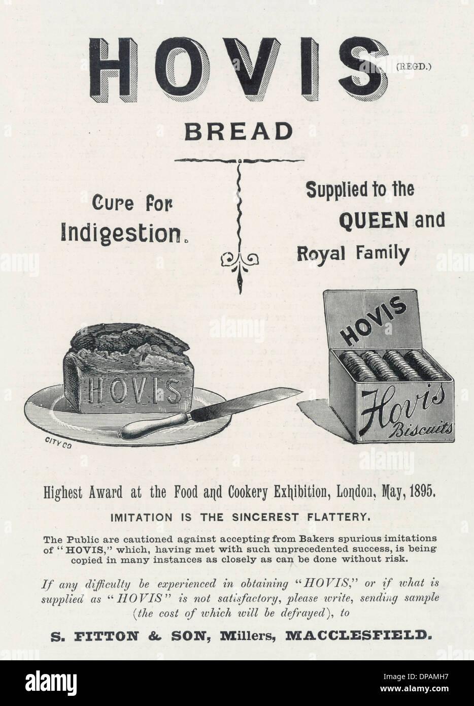 ADVERT/BREAD/HOVIS 1895 - Stock Image