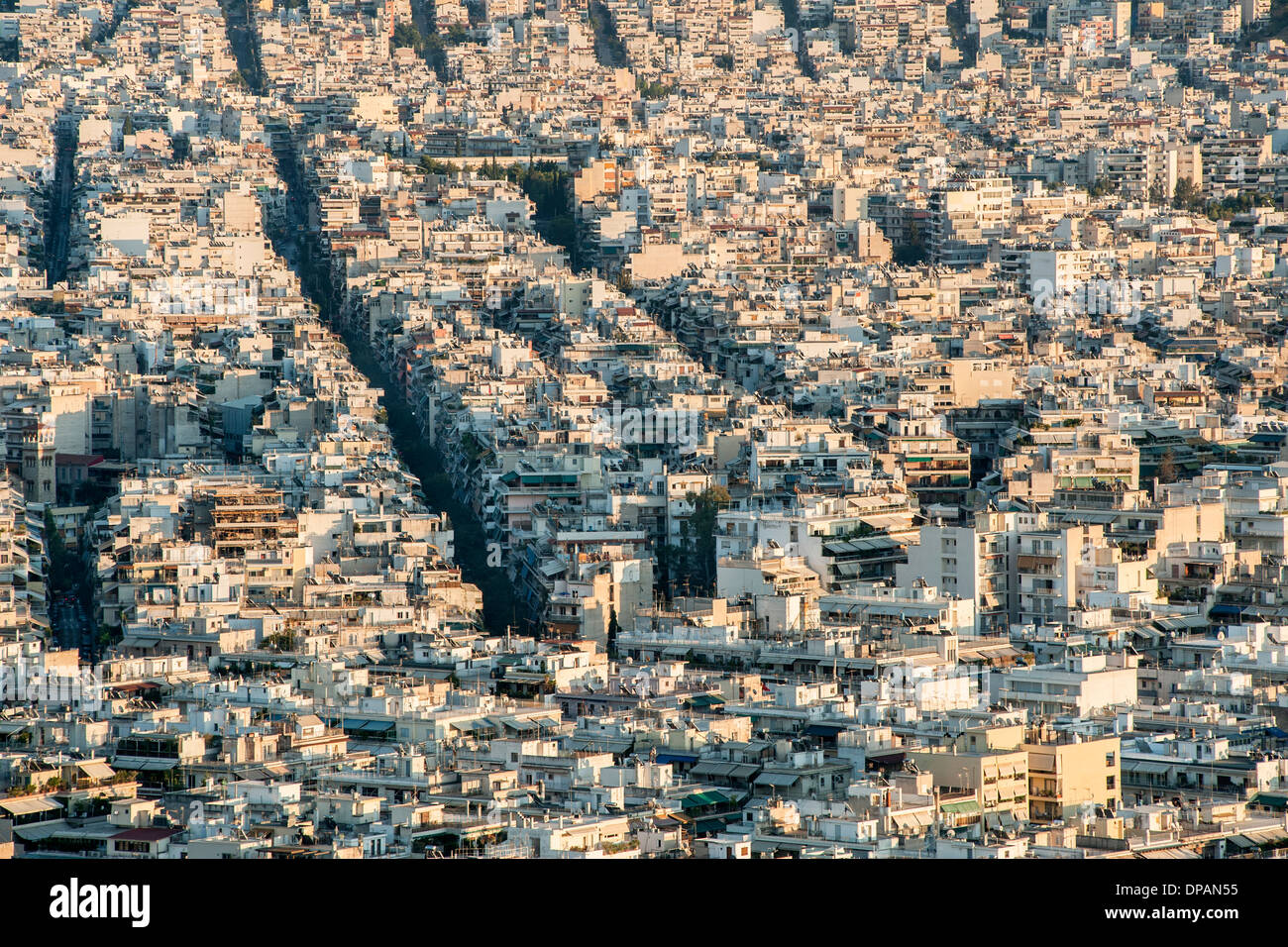 View across Athens, the capital of Greece. - Stock Image