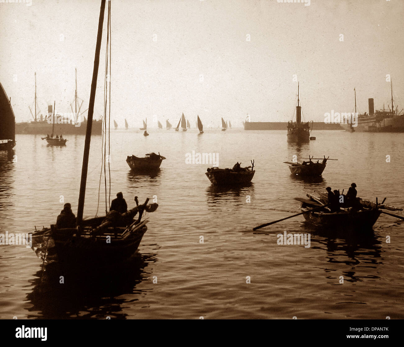 Leixoes Portugal in 1906 Stock Photo