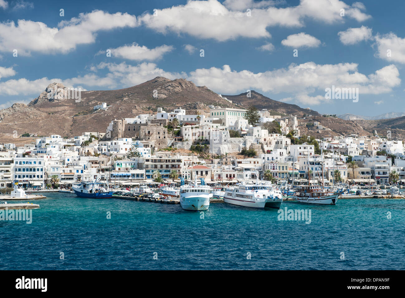 The Greek island of Naxos in the Aegean Sea. - Stock Image