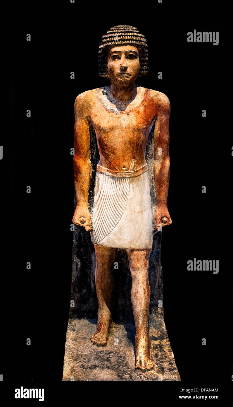 Man standing statue of a funeral Egypt 2350 BC - Stock Image