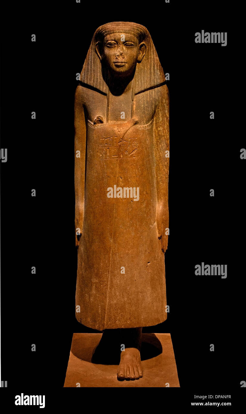 old-Neferkare Iymérou, a senior official Karnak, Egypt around 1725 BC sandstone - Stock Image