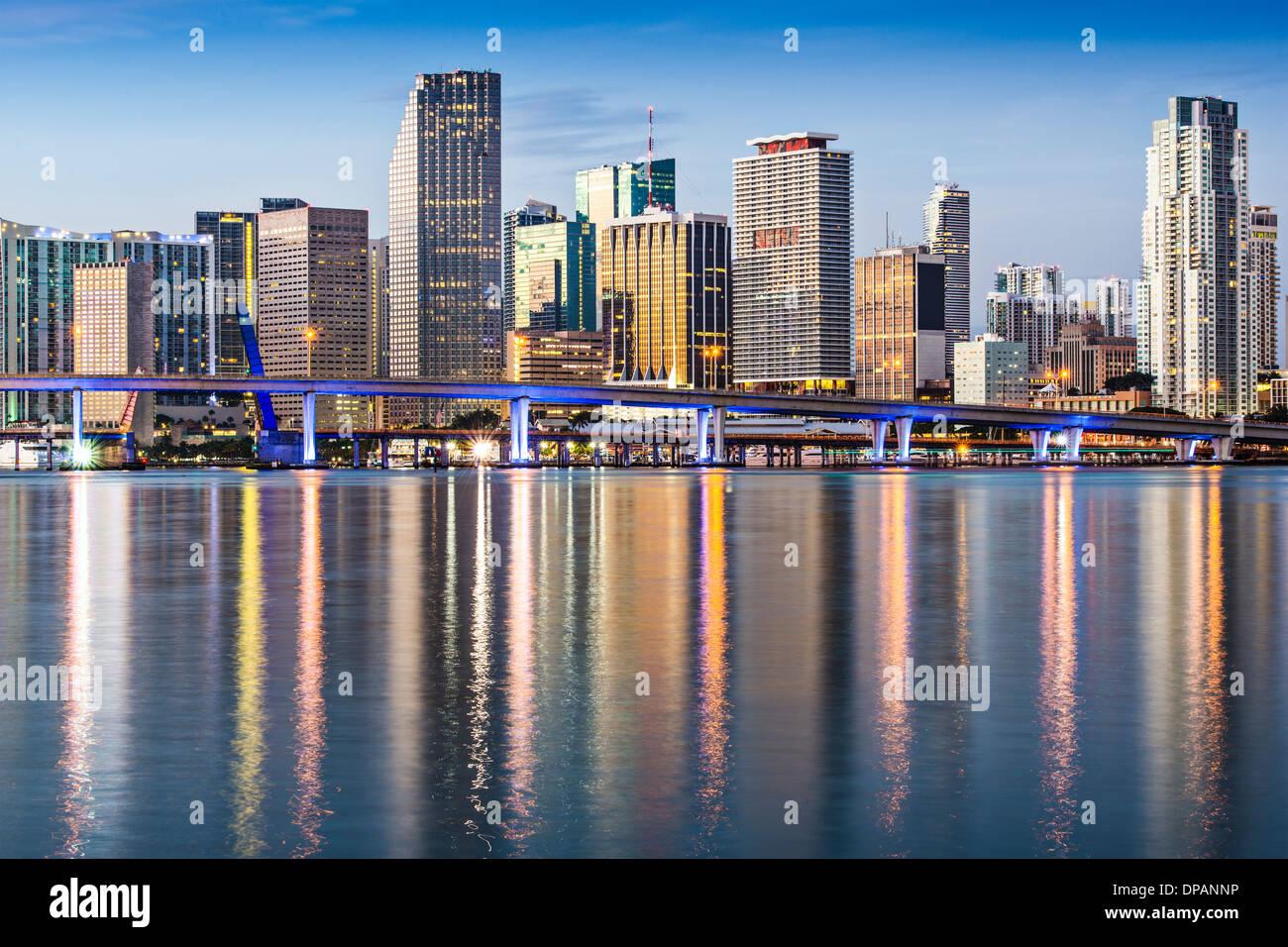 Skyline of Miami, Florida, USA. - Stock Image