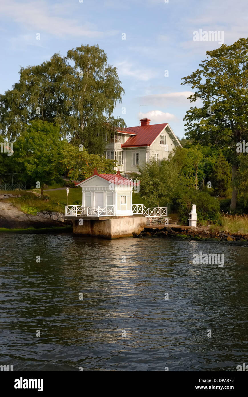 Summer house in Stockholm archipelago - Stock Image