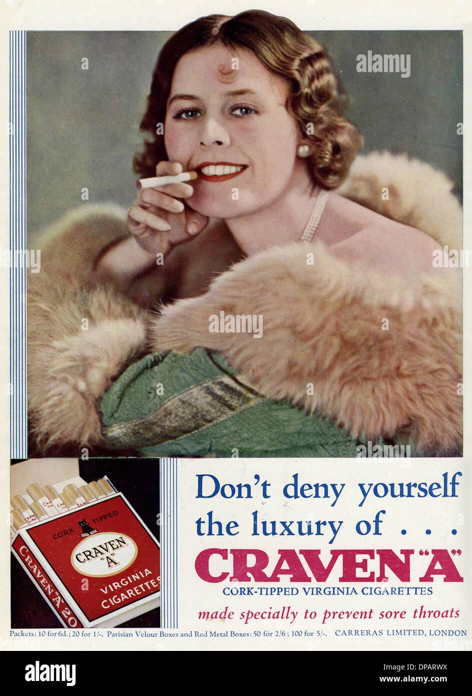 CRAVEN CIGARETTES - Stock Image