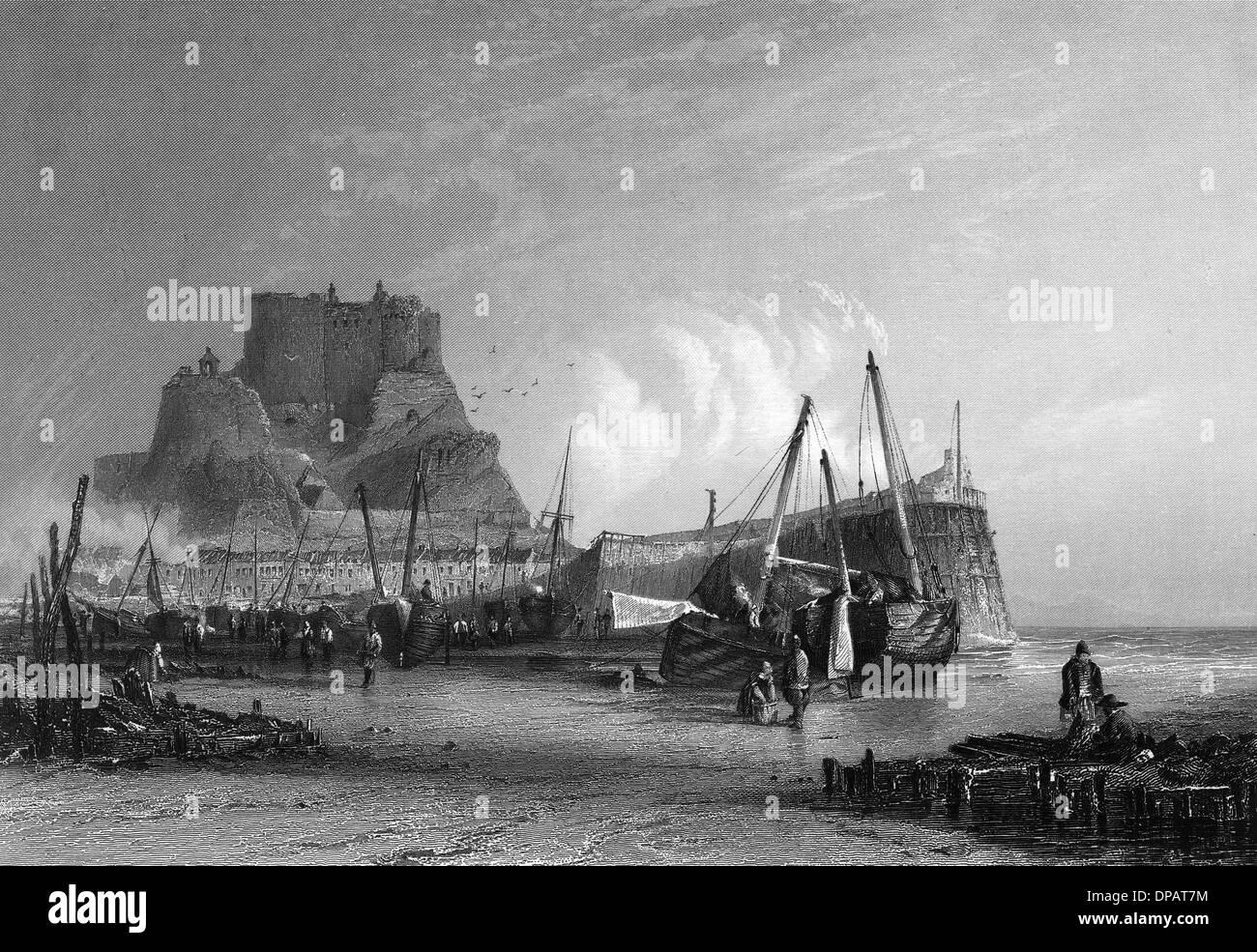 JERSEY/MONT ORGUEIL 1835 - Stock Image