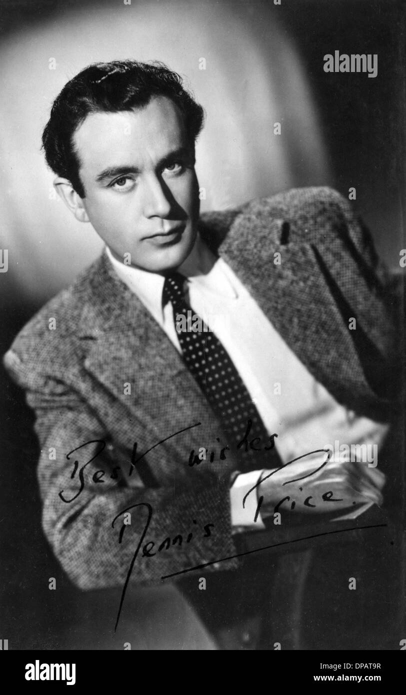 DENNIS PRICE/SIGNED - Stock Image