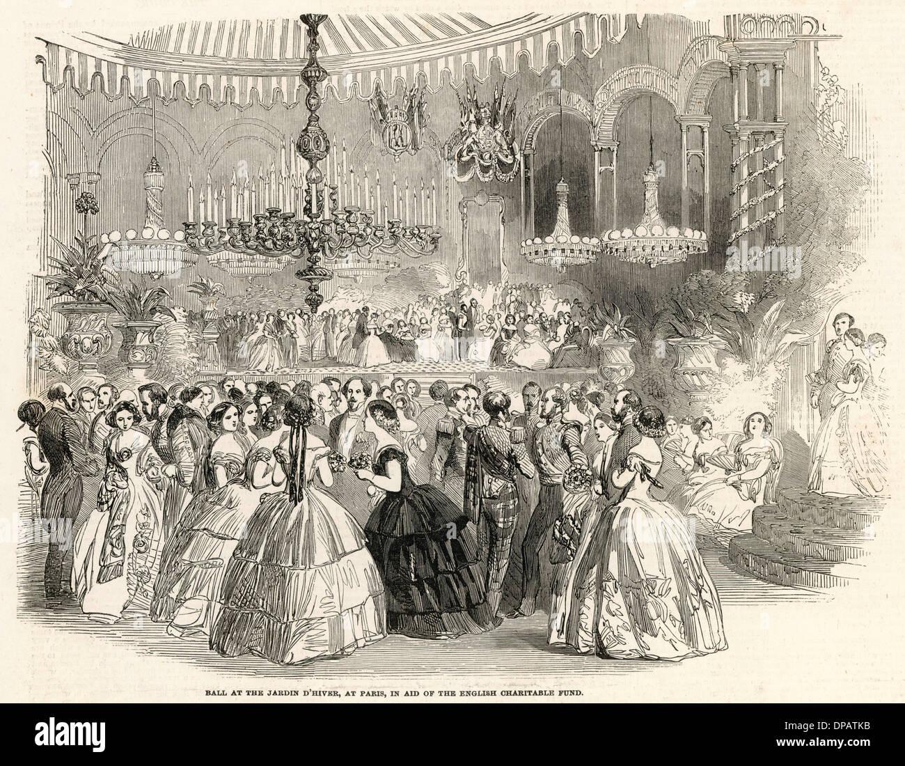 BALL AT PARIS 1854 Stock Photo - Alamy