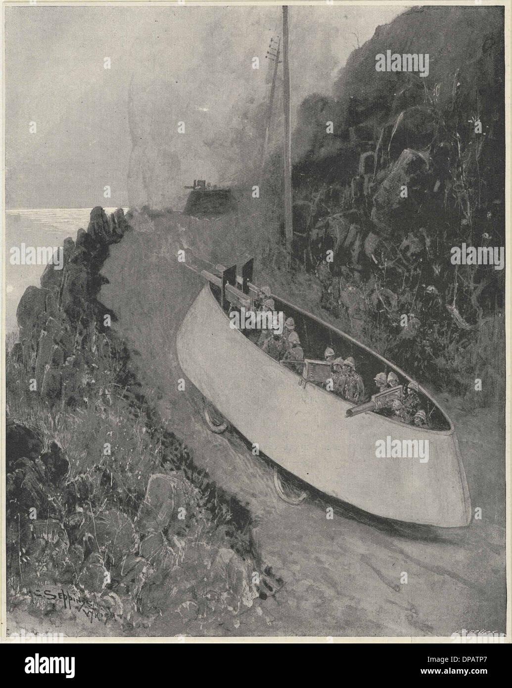 SIMMS' WAR MOTOR 1902 - Stock Image
