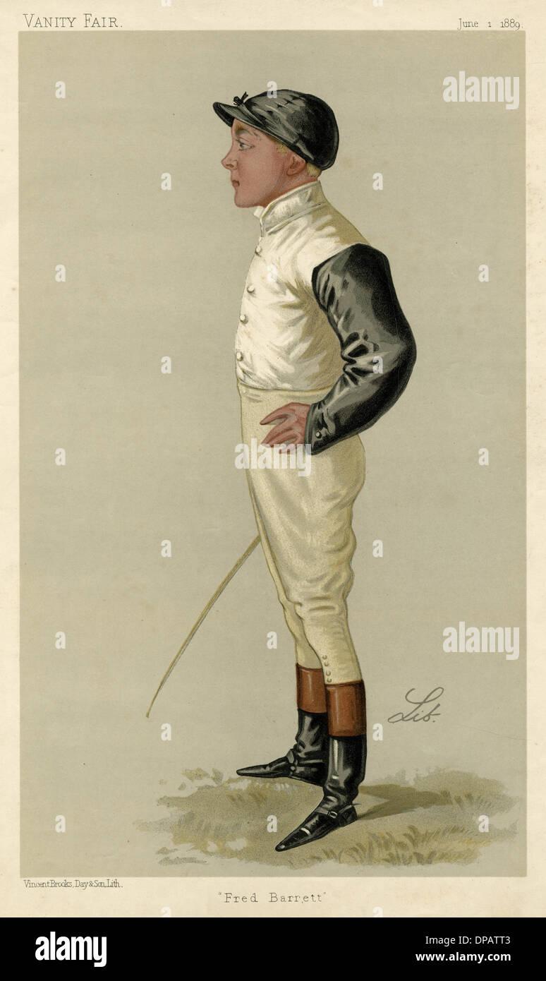 Fred Barrett,  jockey - Stock Image