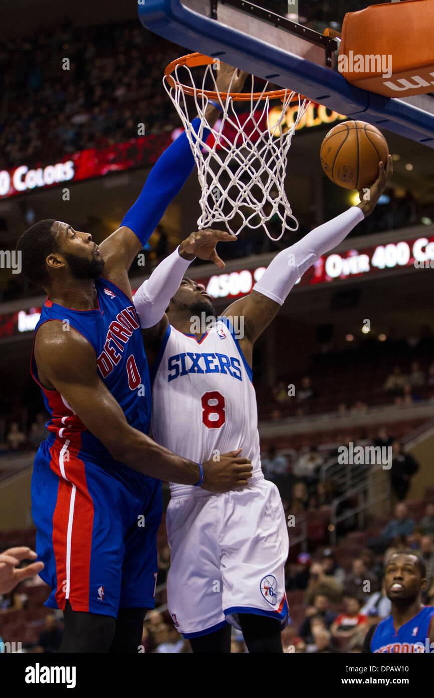 Philadelphia, Pennsylvania, USA. 10th Jan, 2014. Philadelphia 76ers shooting guard Tony Wroten (8) goes up for the Stock Photo