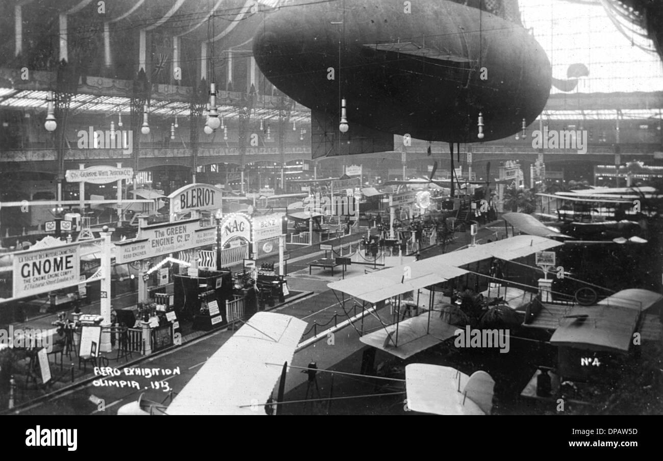 AERO EXHIBITION 1913 - Stock Image