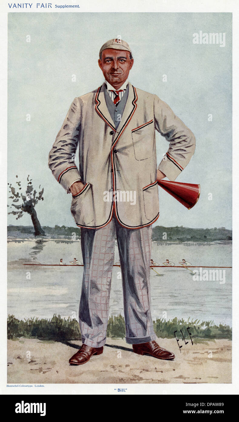 ROWING COACH FORSTER - Stock Image