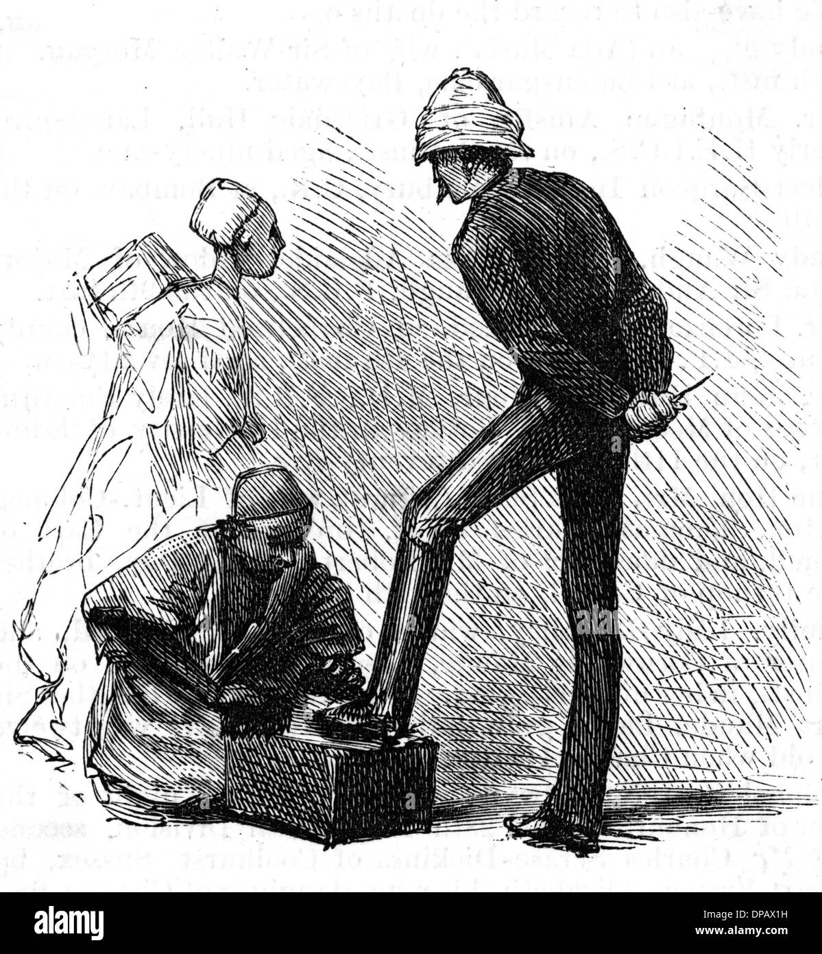 SHOES POLISHED, CAIRO - Stock Image
