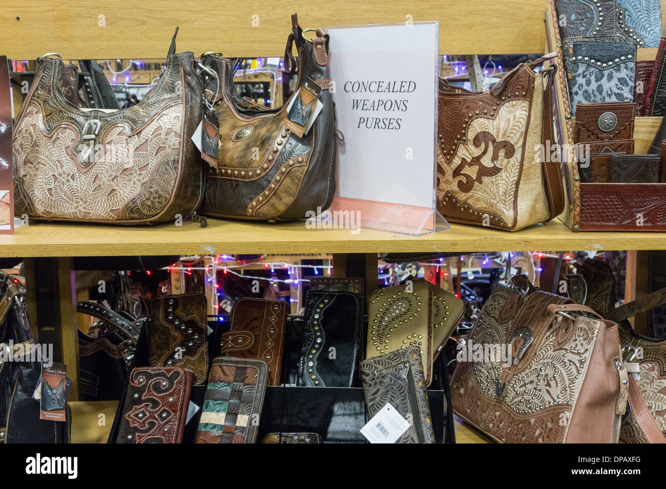 concealed weapon purses for sale, Ranch & Home store, Kennewick, Washington, USA - Stock Image