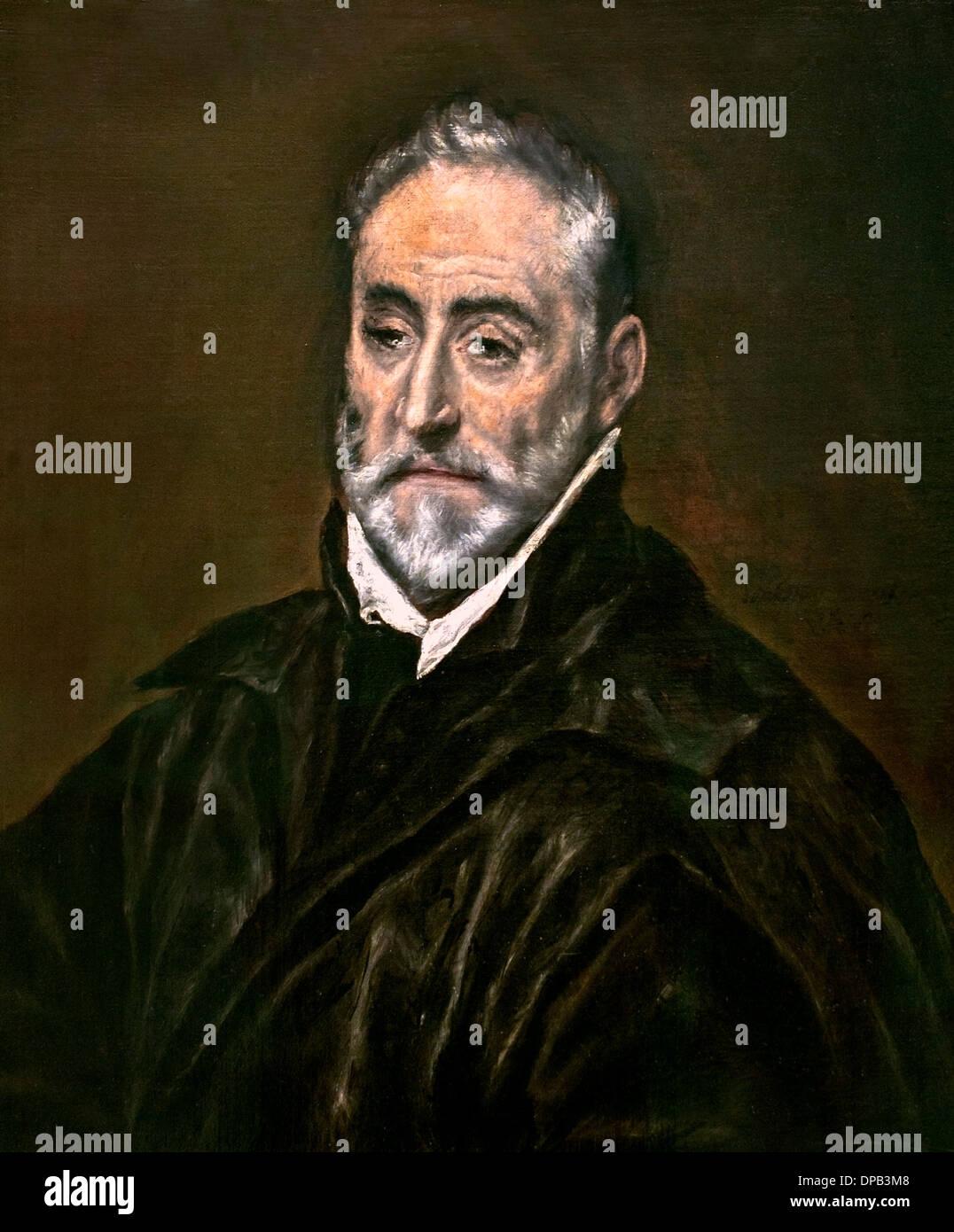 Antonio de Covarrubias y Leiva1514-1602  lawyer scholar 1597 El Greco  Dominikos Theotokopoulos 1541 – 1614 - Stock Image