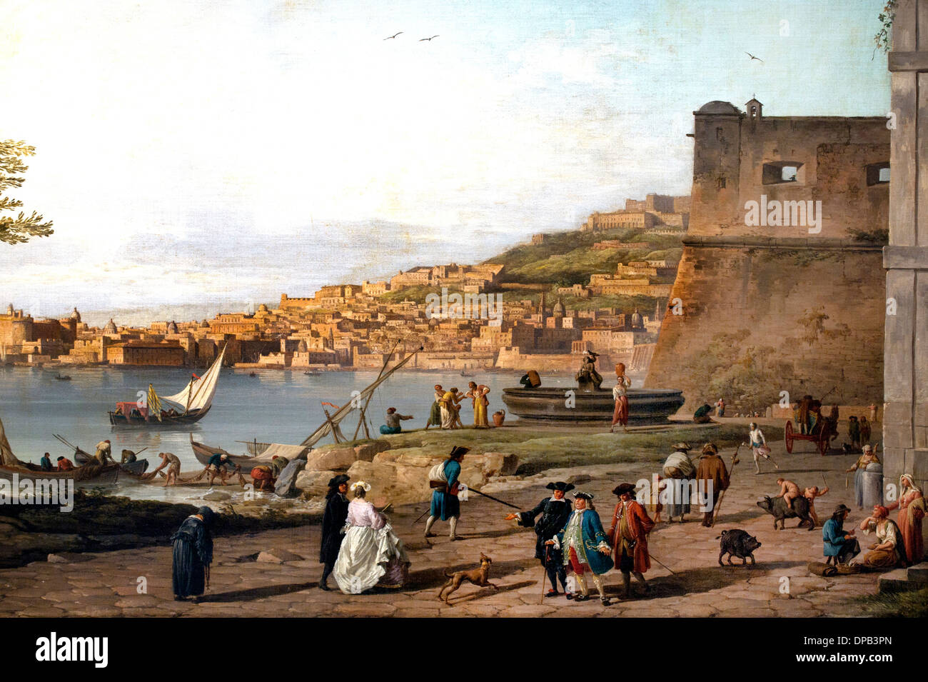 Detail View of the Gulf of Naples 1748 Claude Joseph Vernet  1714 –  1789  France French - Stock Image