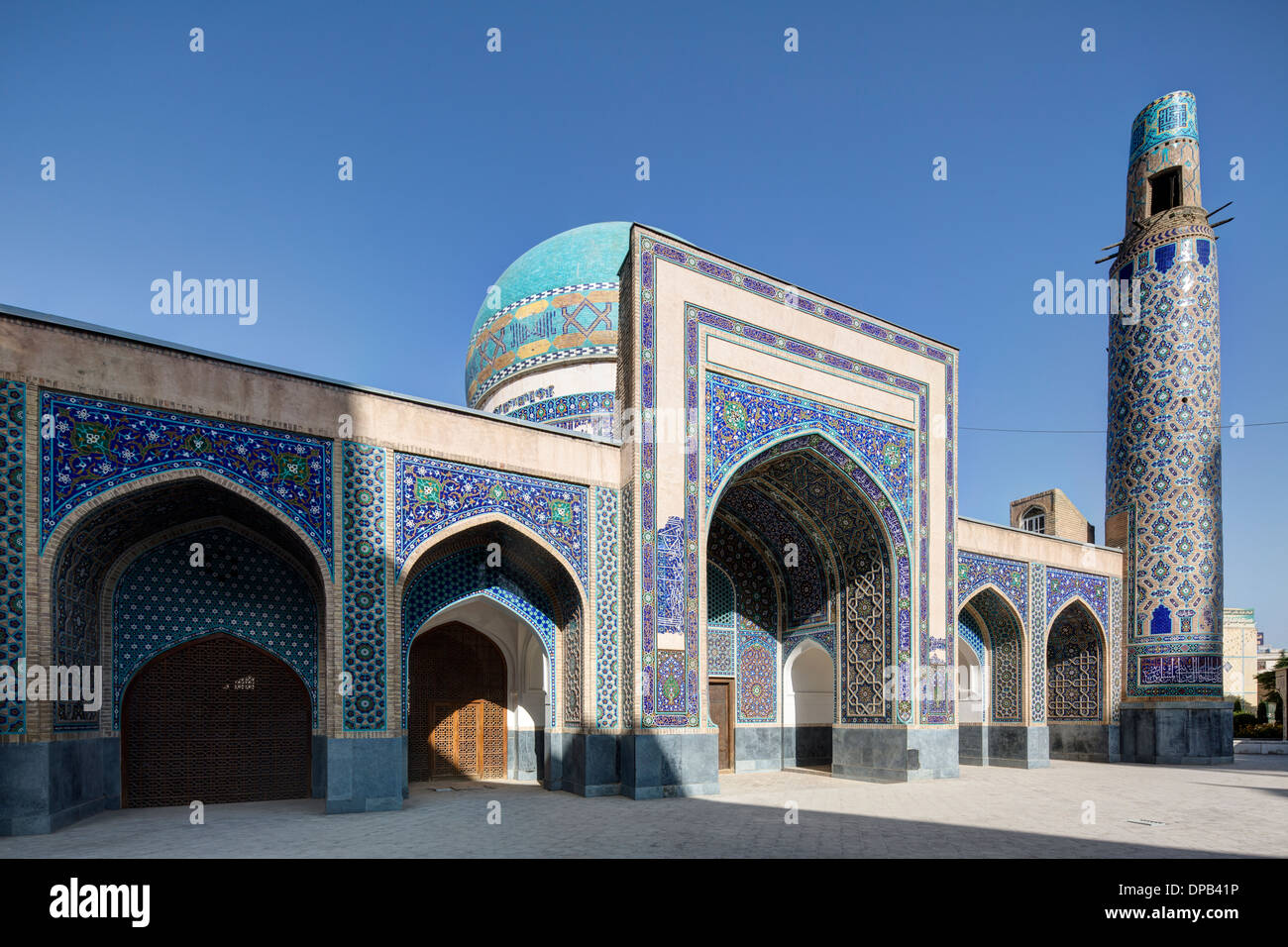 The funerary mosque of Malikshah, known as the Masjid-i Shah, Mashhad, Iran - Stock Image