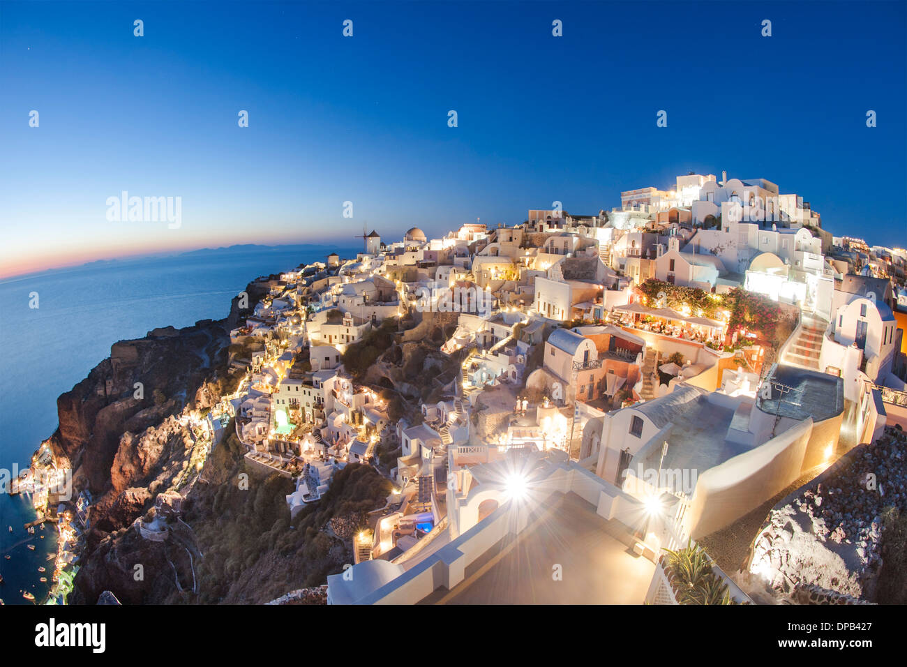 Houses of the village of Oia on the Greek island of Santorini. - Stock Image
