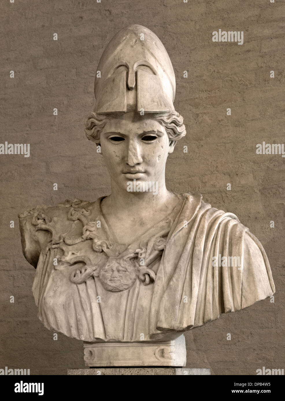 Athena Greek deity of wisdom and war Roman copy after statue of Kresilas 430 BC marble Stock Photo