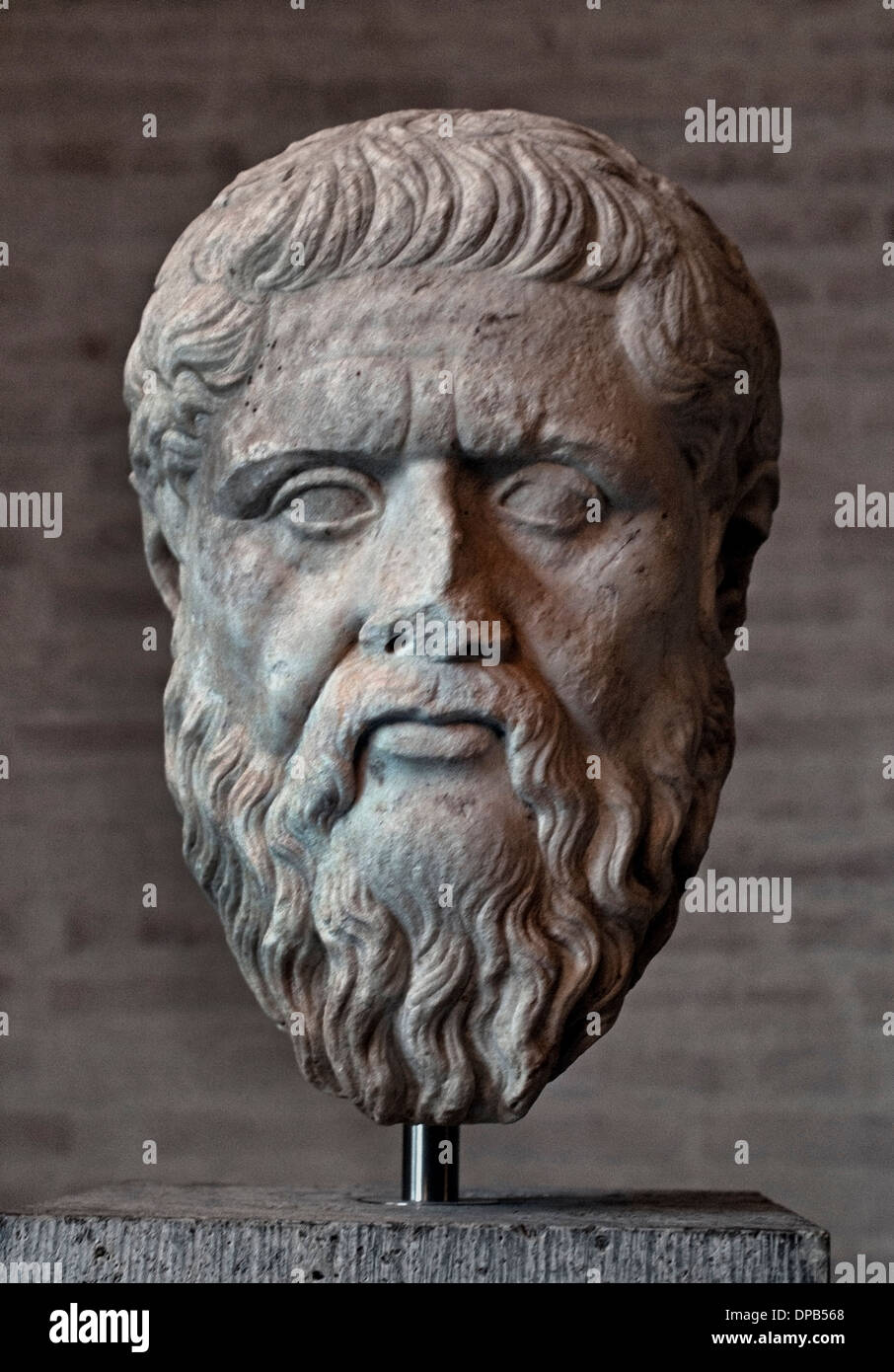 Plato or Platon 427–c. 347 BC philosopher philosophy Greek Greece - Stock Image