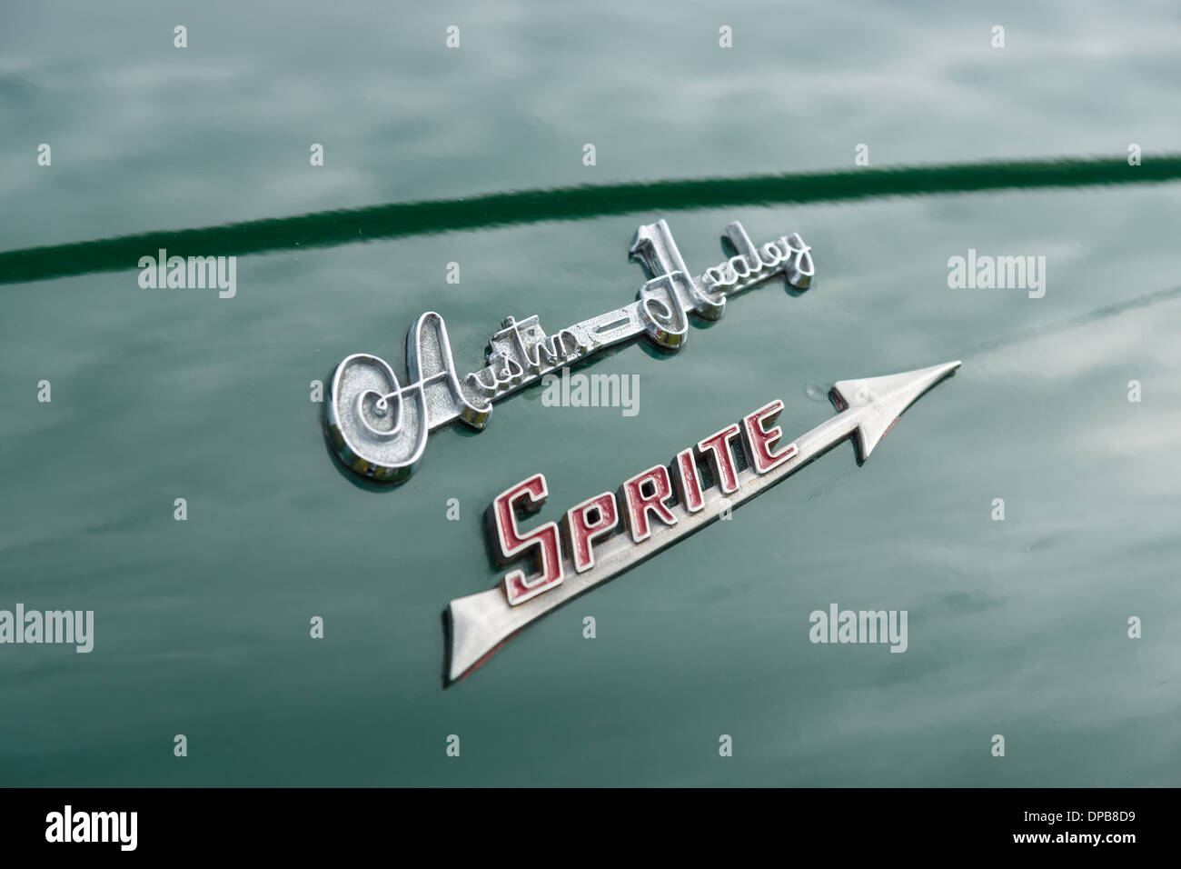 Emblem Sports Car Austin Healey Sprite Stock Photo 65401653 Alamy
