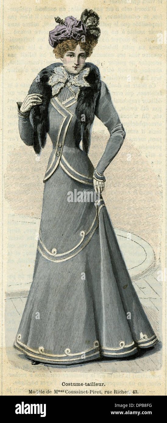 GREY TAILOR MADE 1899 - Stock Image