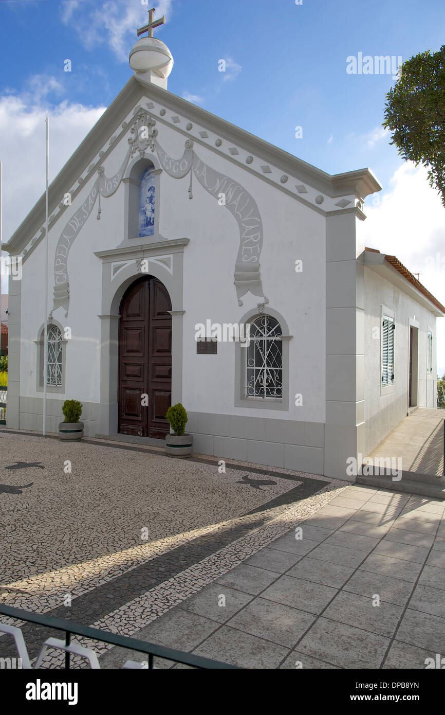 Chapel in the village of Camacha, Madeira - Stock Image