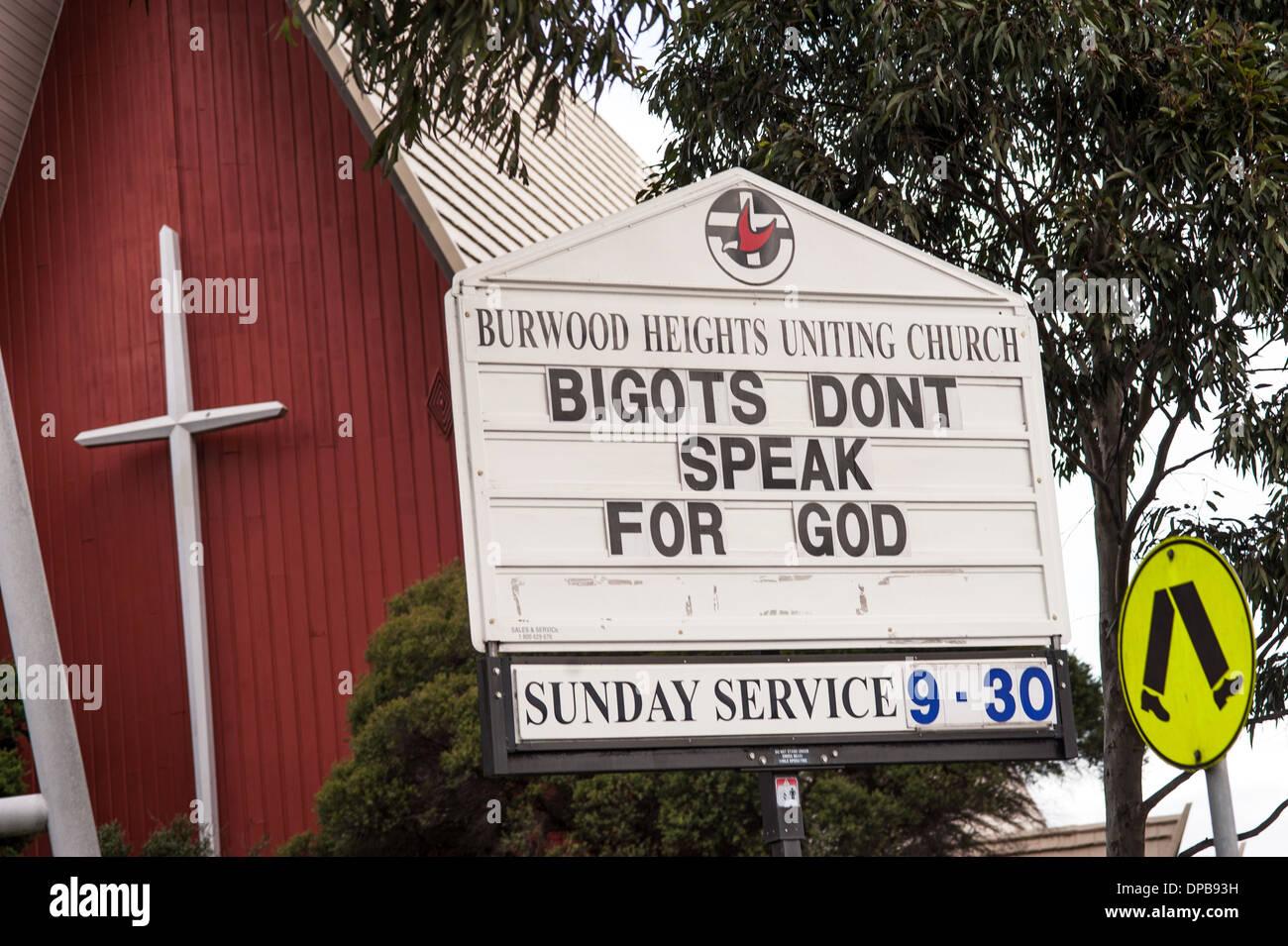 Bigots Don't Speak for God - Stock Image