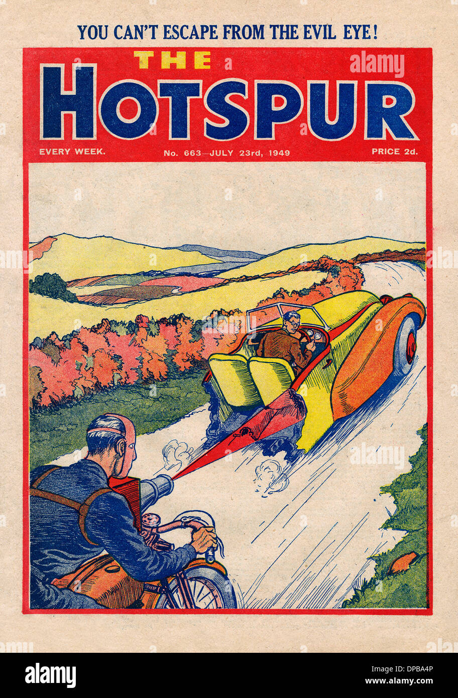 MOTORING/HOTSPUR 1949 - Stock Image