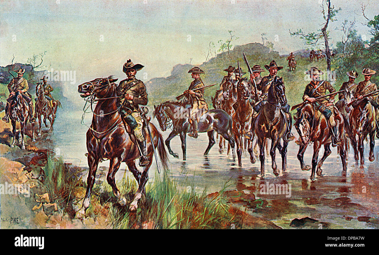 BOER WAR CAVALRY - Stock Image