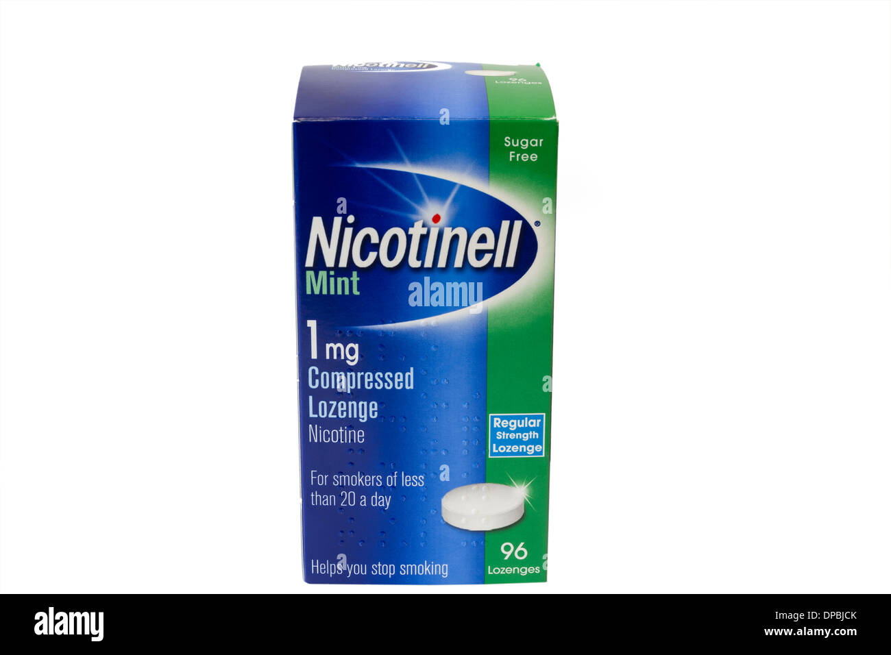 A box of Nicotinell lozenges used to help people to stop smoking - Stock Image