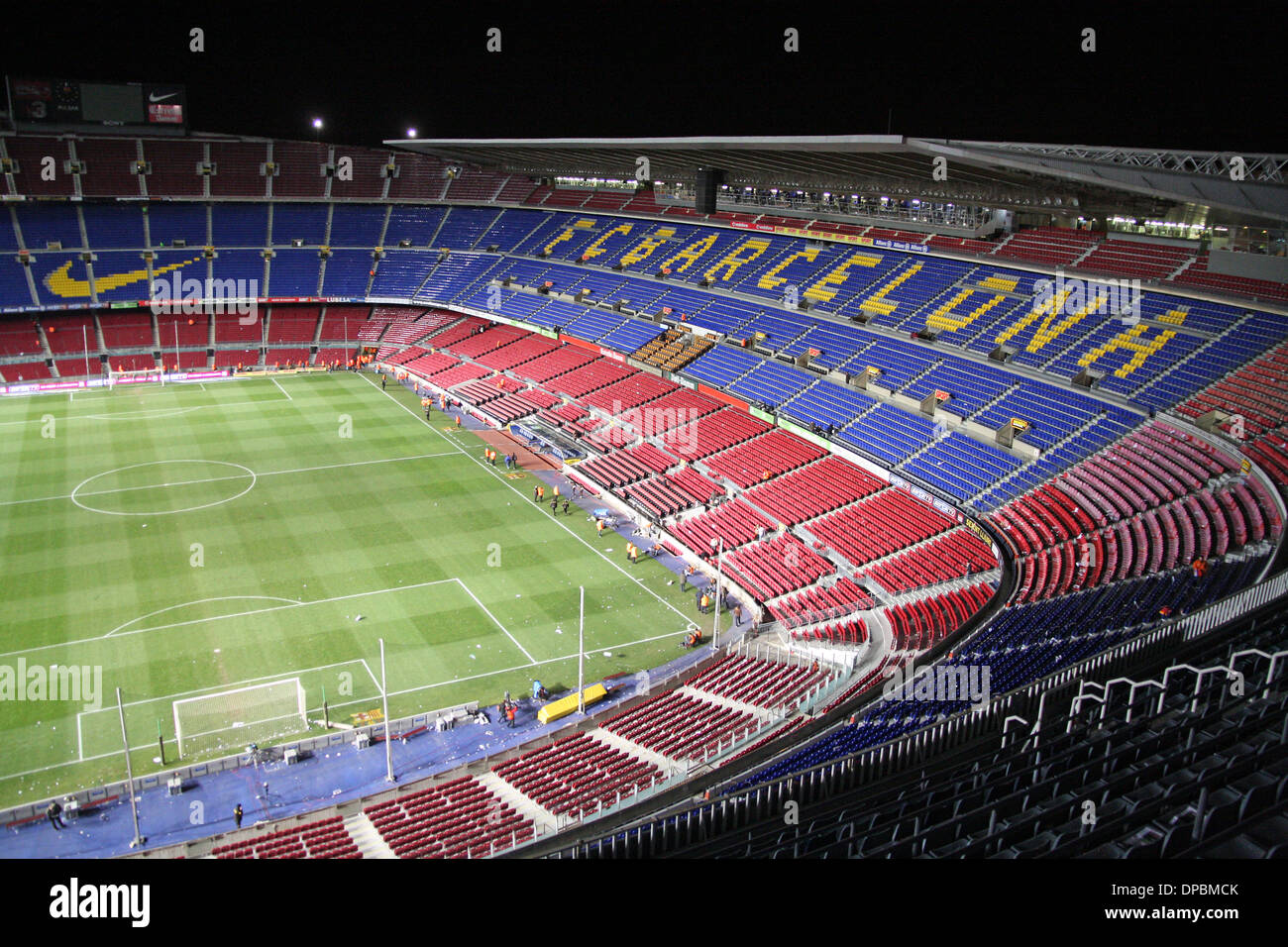 Camp Nou barcelona football team stadium - Stock Image