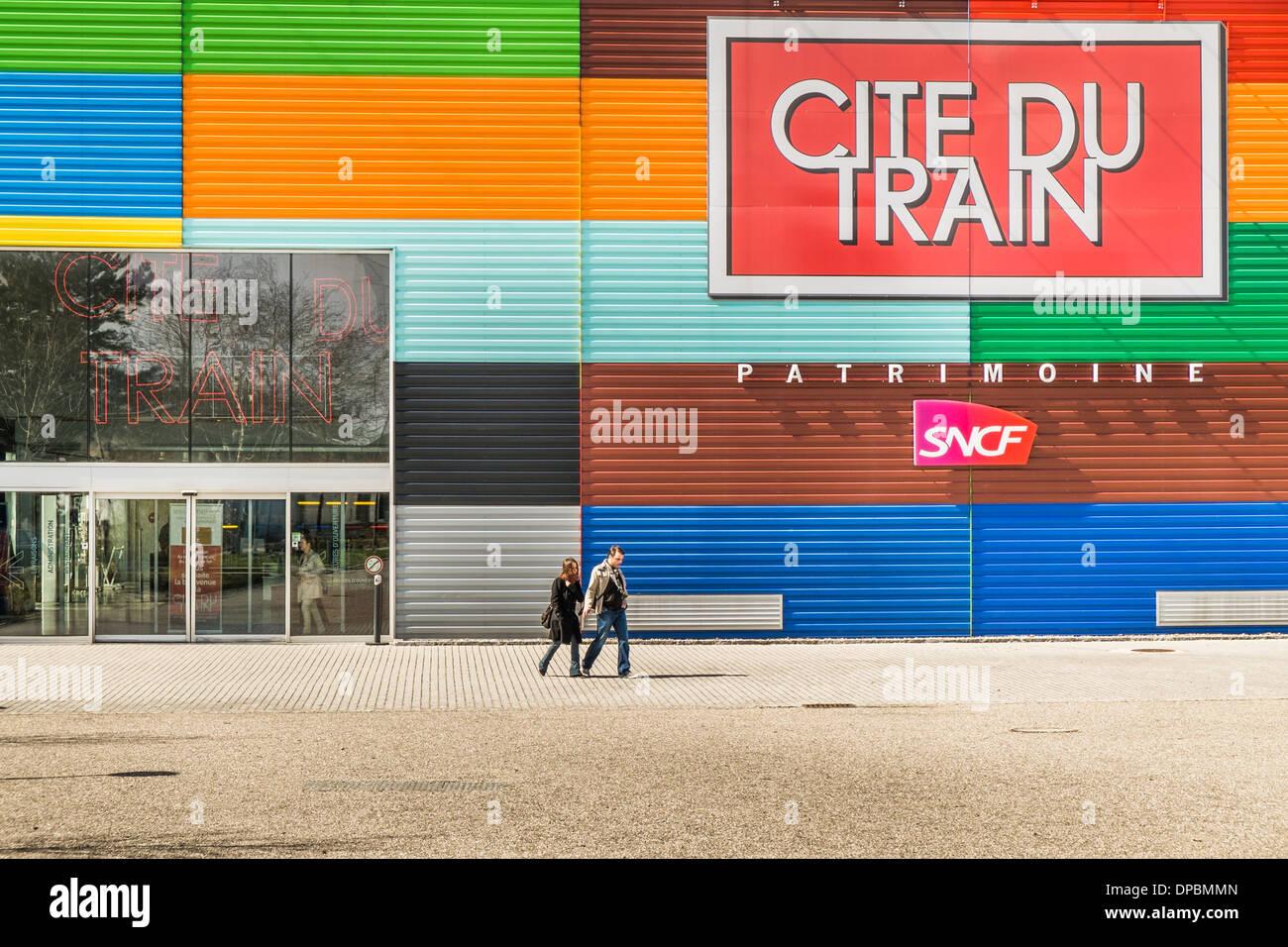 cite du train railroad museum, mulhouse, alsace, france - Stock Image