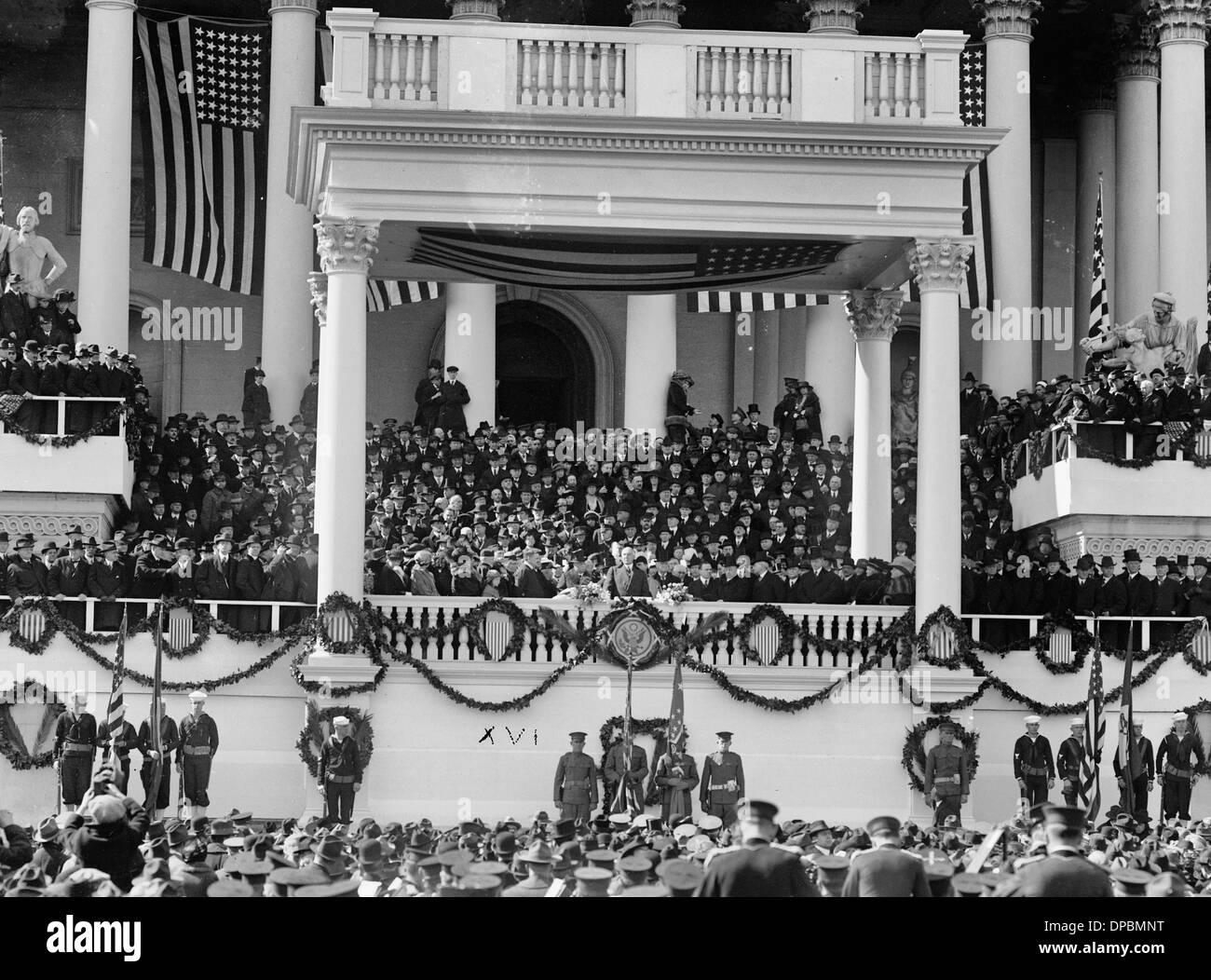 Warren G Harding Inauguration, March 4, 1921 - Stock Image