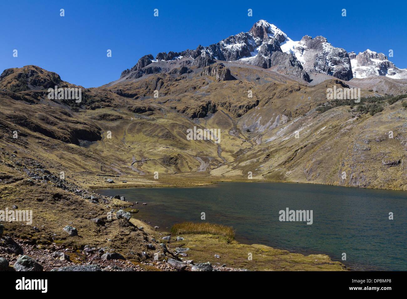Nevado capacsaya, Peru - Stock Image