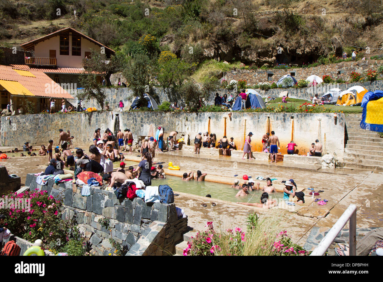 Hot Springs in Lares, Peru - Stock Image